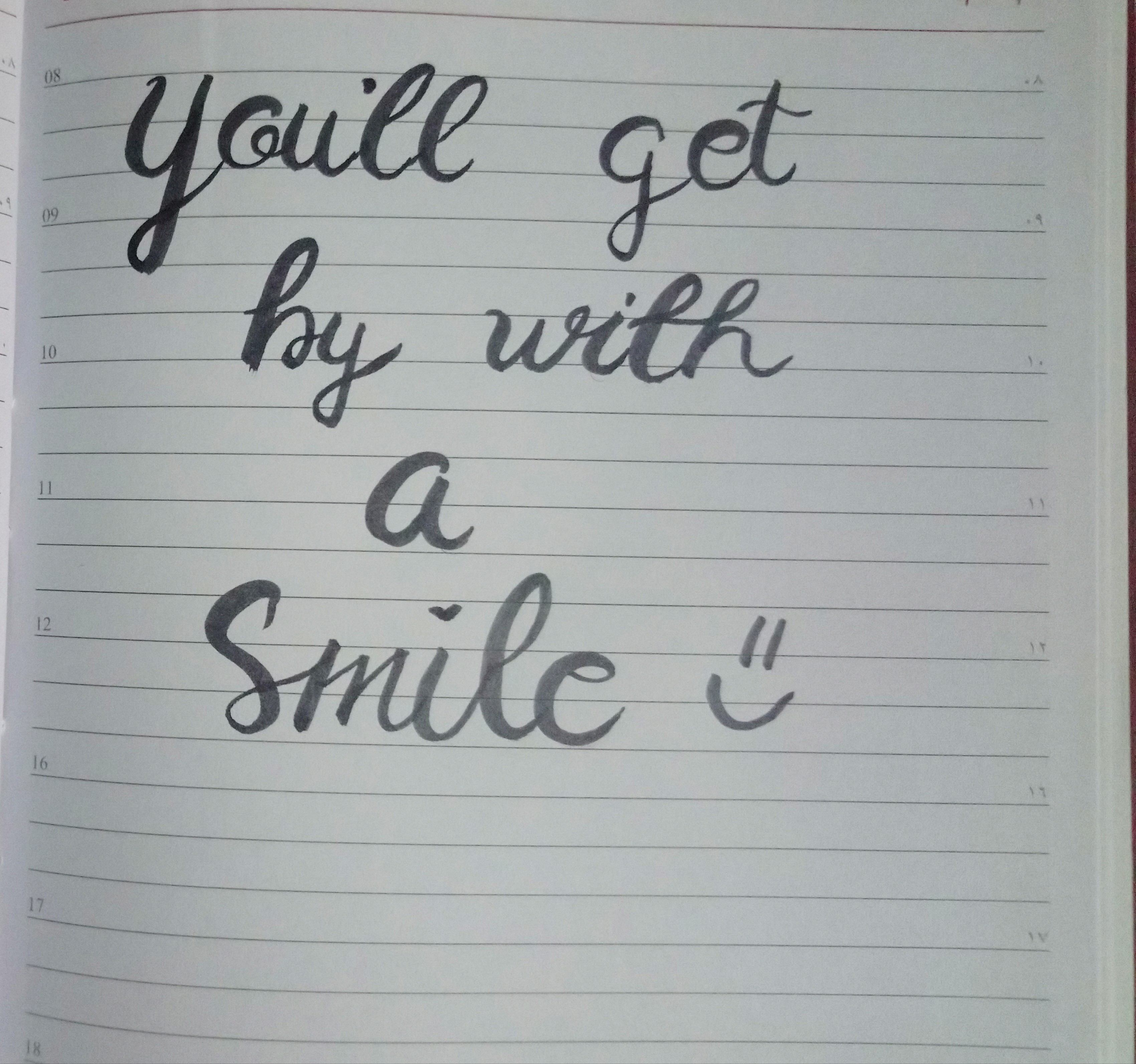 By you ll smile get with a With a